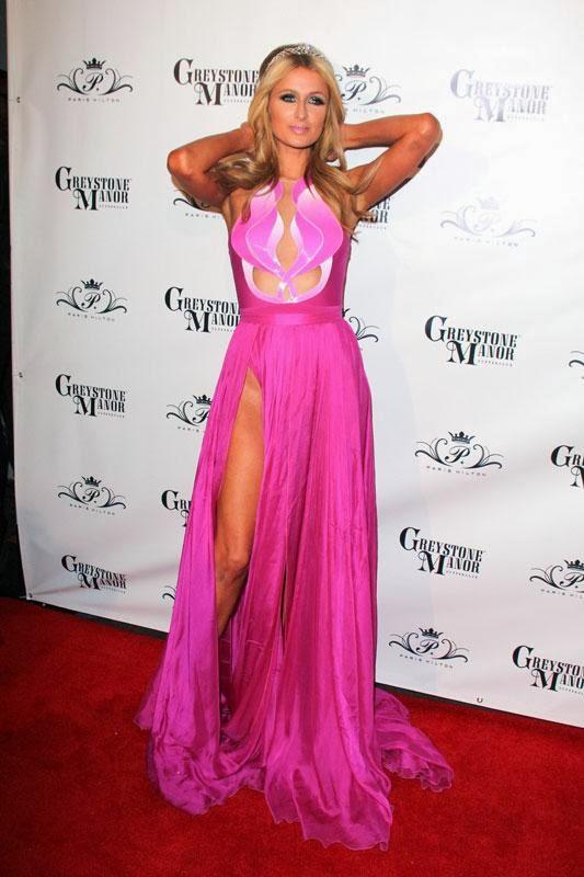 Paris Hilton in a dress