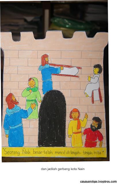"""Bahan Kreativitas Sekolah Minggu """"Yesus Membangkitkan Anak Muda di"""