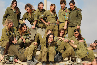 Hot israeli female tank instructors of school of infantry professions