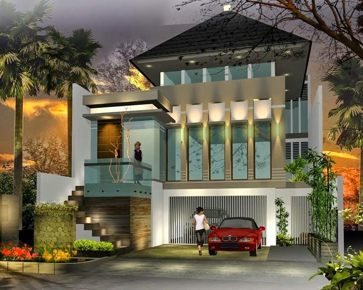 Gambar Desain Rumah Mewah Minimalis Modern 2 Lantai