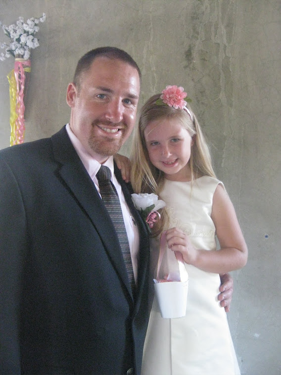 Emma and Daddy her first time being flower girl!