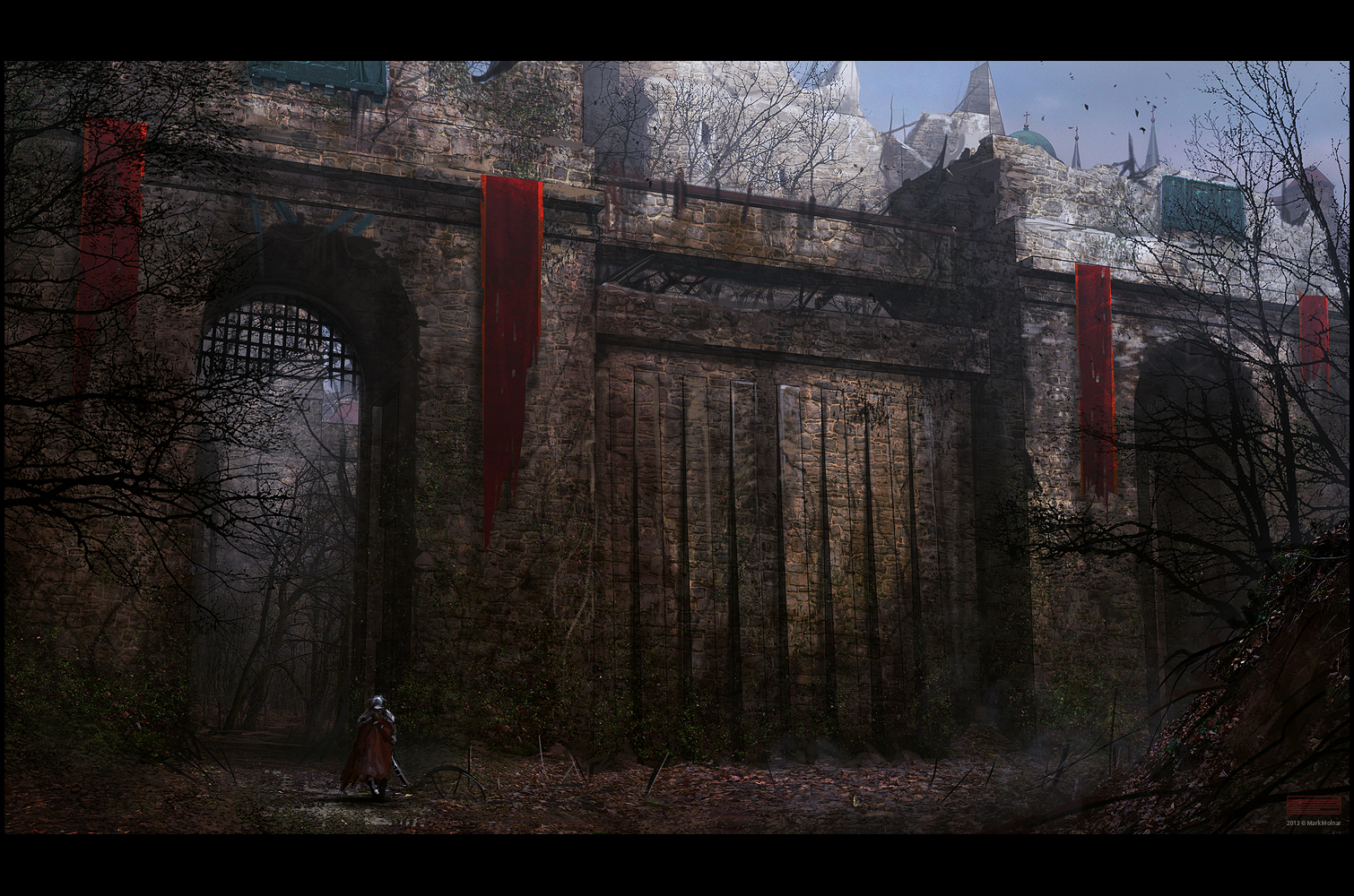 Castle gate by mark molnar x post r imaginarycastles imaginarywalls - Several artistic concepts for main door ...