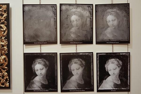 Xray levels in art Salon del Restauro Florence Italy Fortezza da Basso