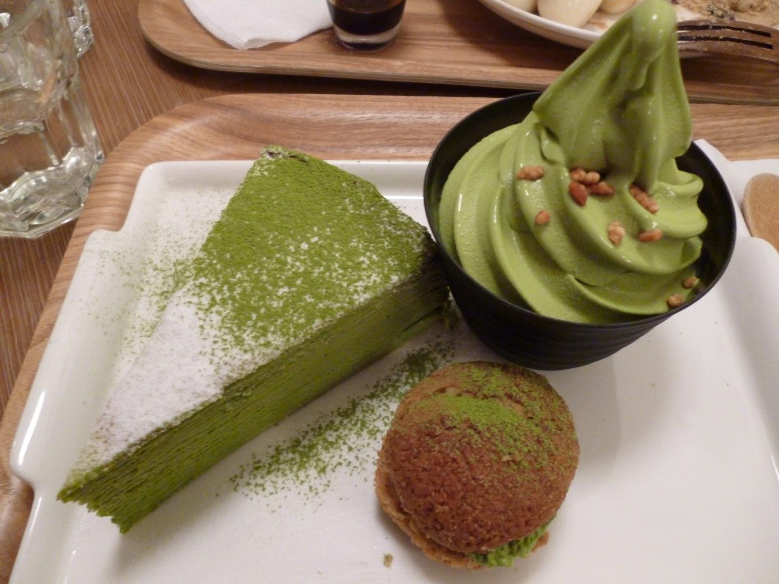 Green Tea Cake With Cream
