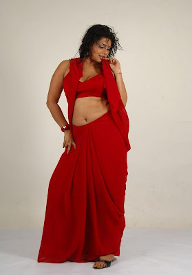 swathi varma ,armpit in red saree cute stills