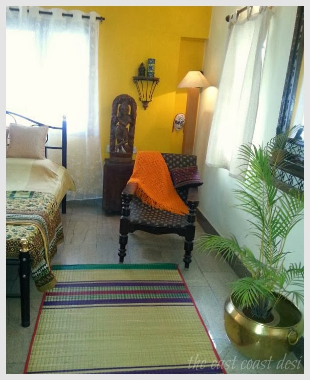 chatais woven grass rugs apart from adding color and texture have the added benefit of easy maintenance - Desi Home Pic