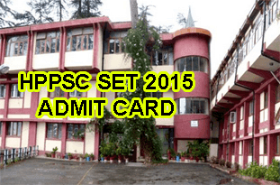 HPPSC State Eligibility Test 2015 Admit Card Slip, HP SET Exam Call Letter 2015, HP SET Hall Ticket 2015 Released. The examination will be held on 19th July, 2015. HP SET Admit Card 2015 Online