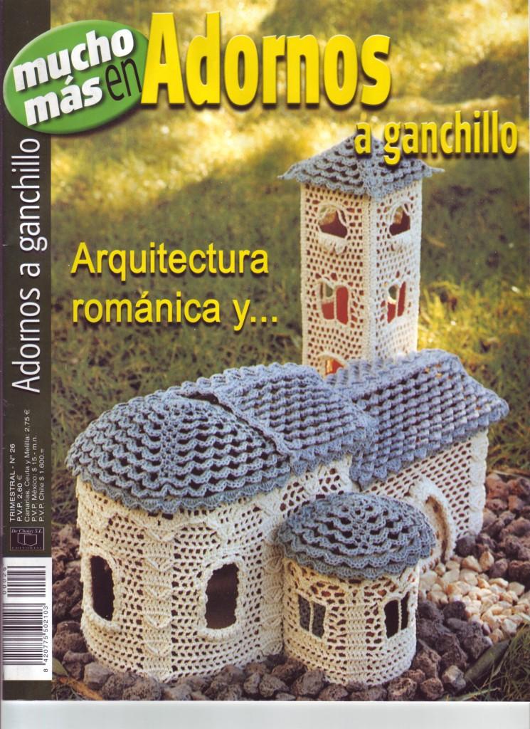 Revista adornos y arquitectura a ganchillo incre bles construcciones tejido facil Adornos a ganchillo