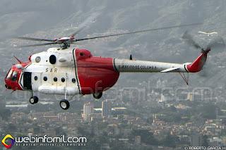 """Helicóptero Mi-17 """"Libertad 1"""" que participó en la Operación Jaque."""