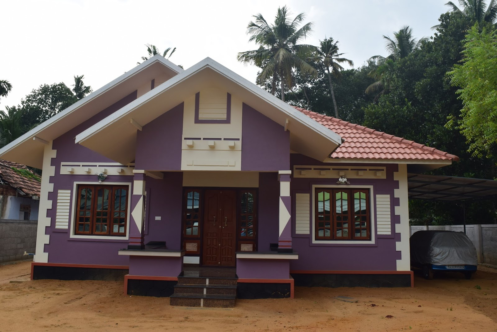 Low cost house design at trivandram building designers for Low cost home construction
