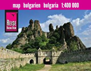 Bulgaria: mapa impermeable de carreteras.