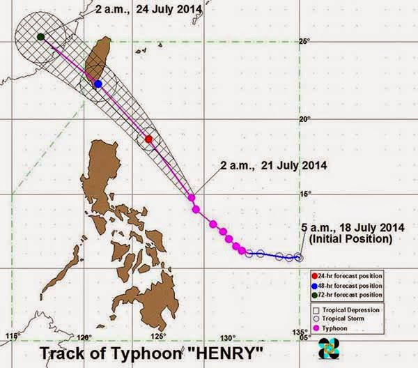 Typhoon Henry July 21 2014