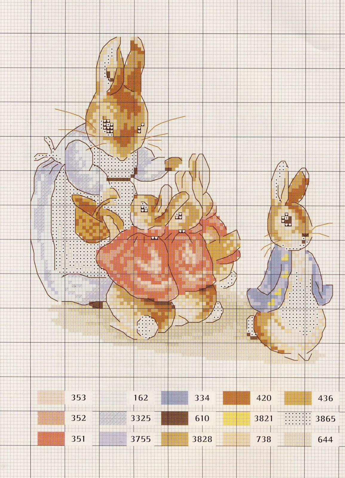 схема вышивки мишки и пуговицы подбор ниток