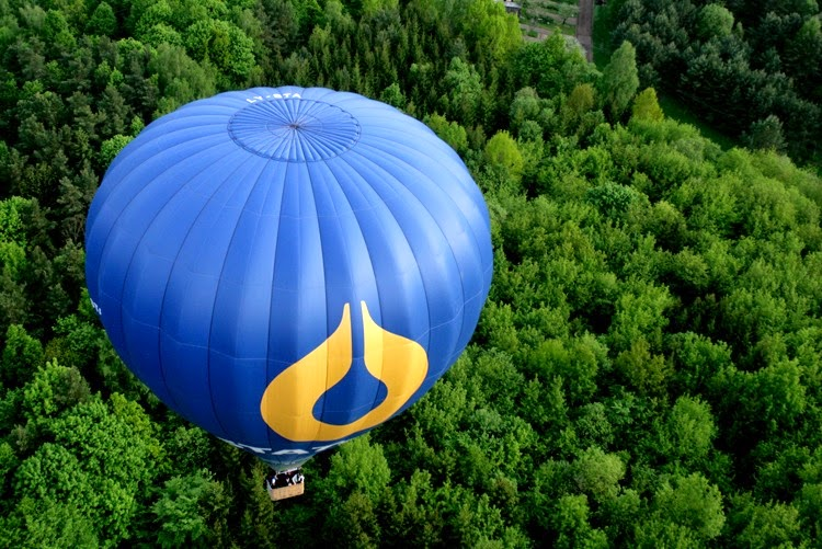 vilnius flight with the balloon