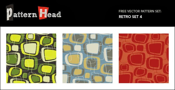 Vector Seamless Patterns – Retro Set 4