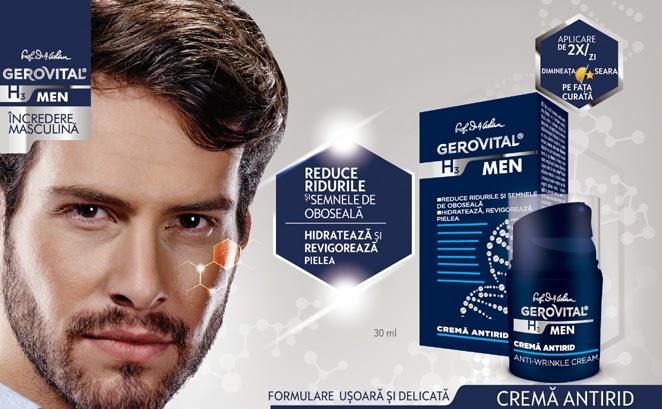 H3 Men Gerovital - crema antirid