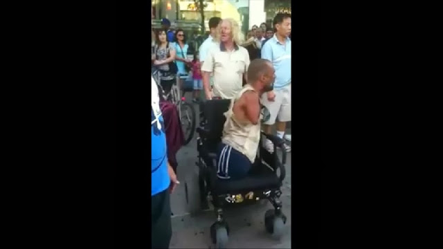 Guy Without Arms And Legs Fighting Thief in Canada