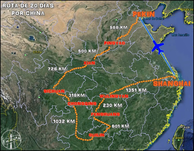 Mapa-ruta-viaje-China