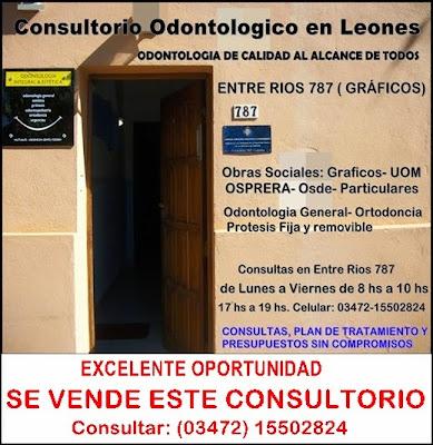 ESPACIO PUBLICITARIO: CONSULTORIO ODOLTOLOGICO LEONES