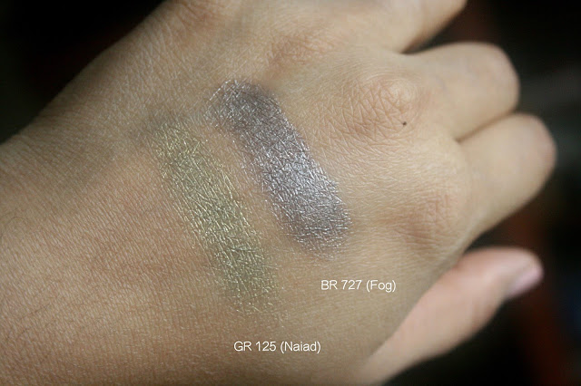Shiseido Shimmering Cream Eye Color in GR125 and BR727 Swatches