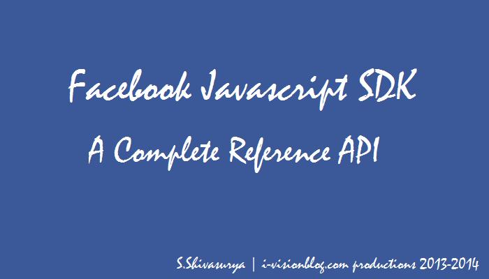 Facebook API Javascript SDK - A Complete Reference for Websites