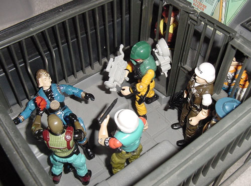 Funskool Cobra Commander, Law, 1987, Scoop, Roadblock, Supercop, European Tiger Force Psyche Out