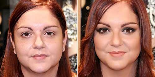 Maquillaje antes y después para ojos caidos