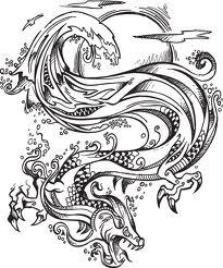 Motif Tato Naga Hitam Putih 13