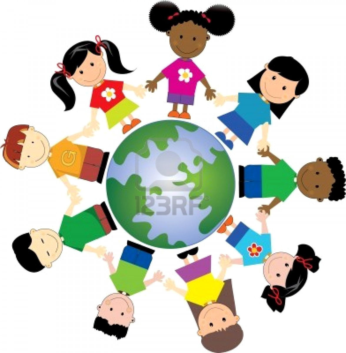 Clip Art Kids around the World