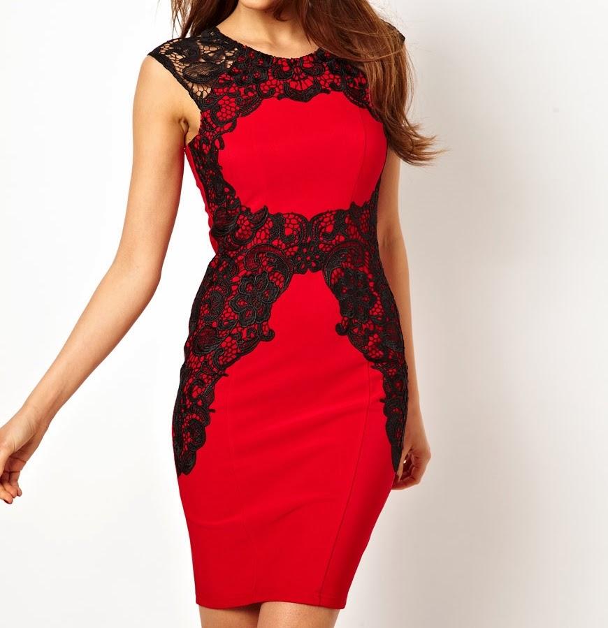abito-rosso-e-nero-in-pizzo