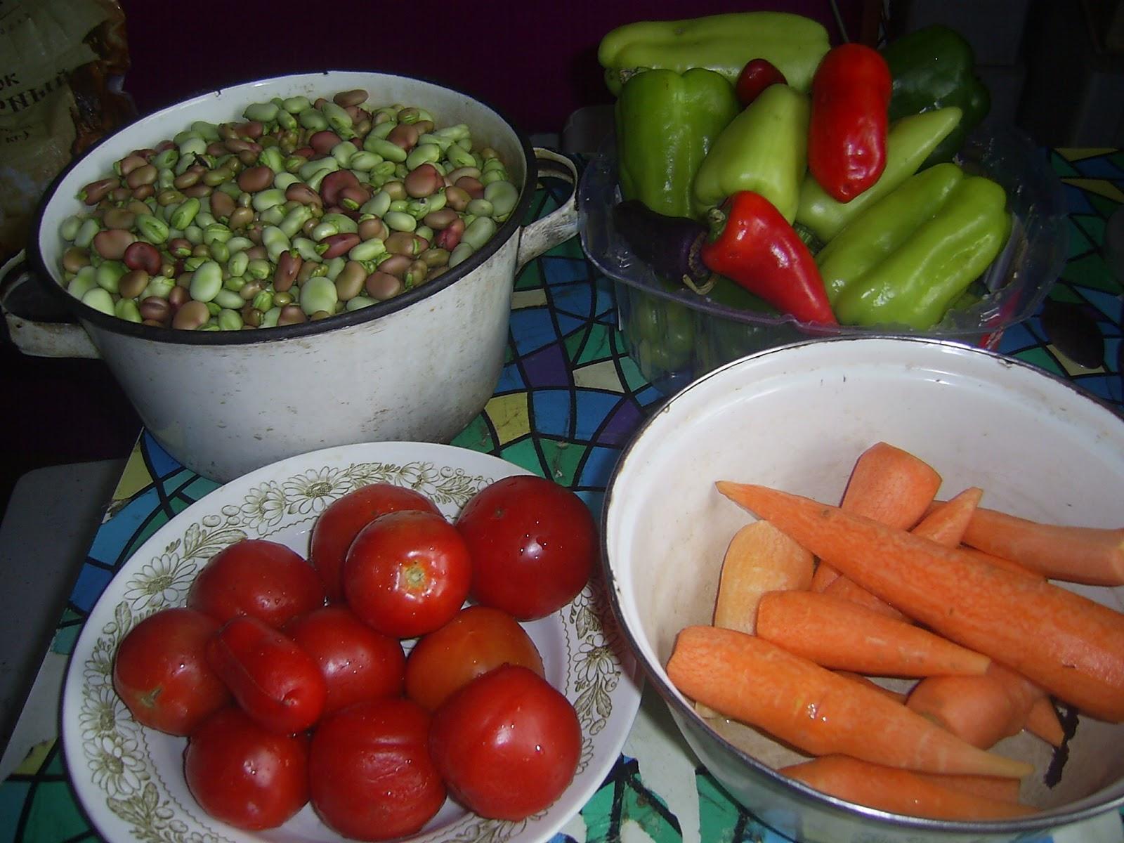 Бобы с овощами на зиму рецепты