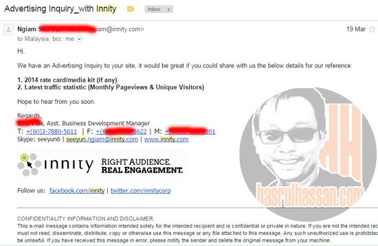 Innity pilih blog yang tepati kriteria niche pengiklan