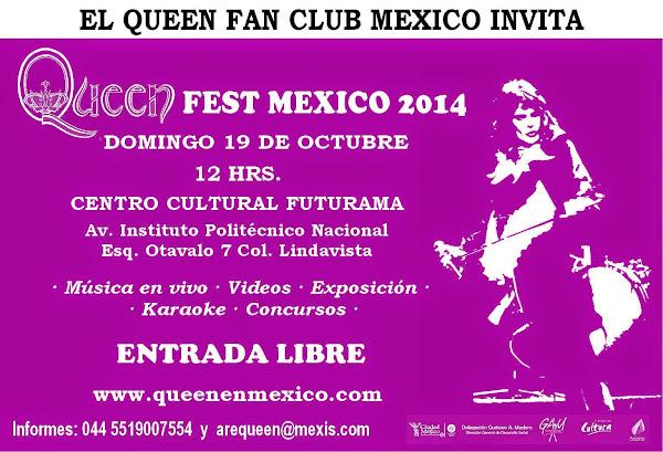 QUEEN FEST MEXICO 19 DE OCTUBRE CENTRO CULTURAL FUTURAMA ENTRADA LIBRE