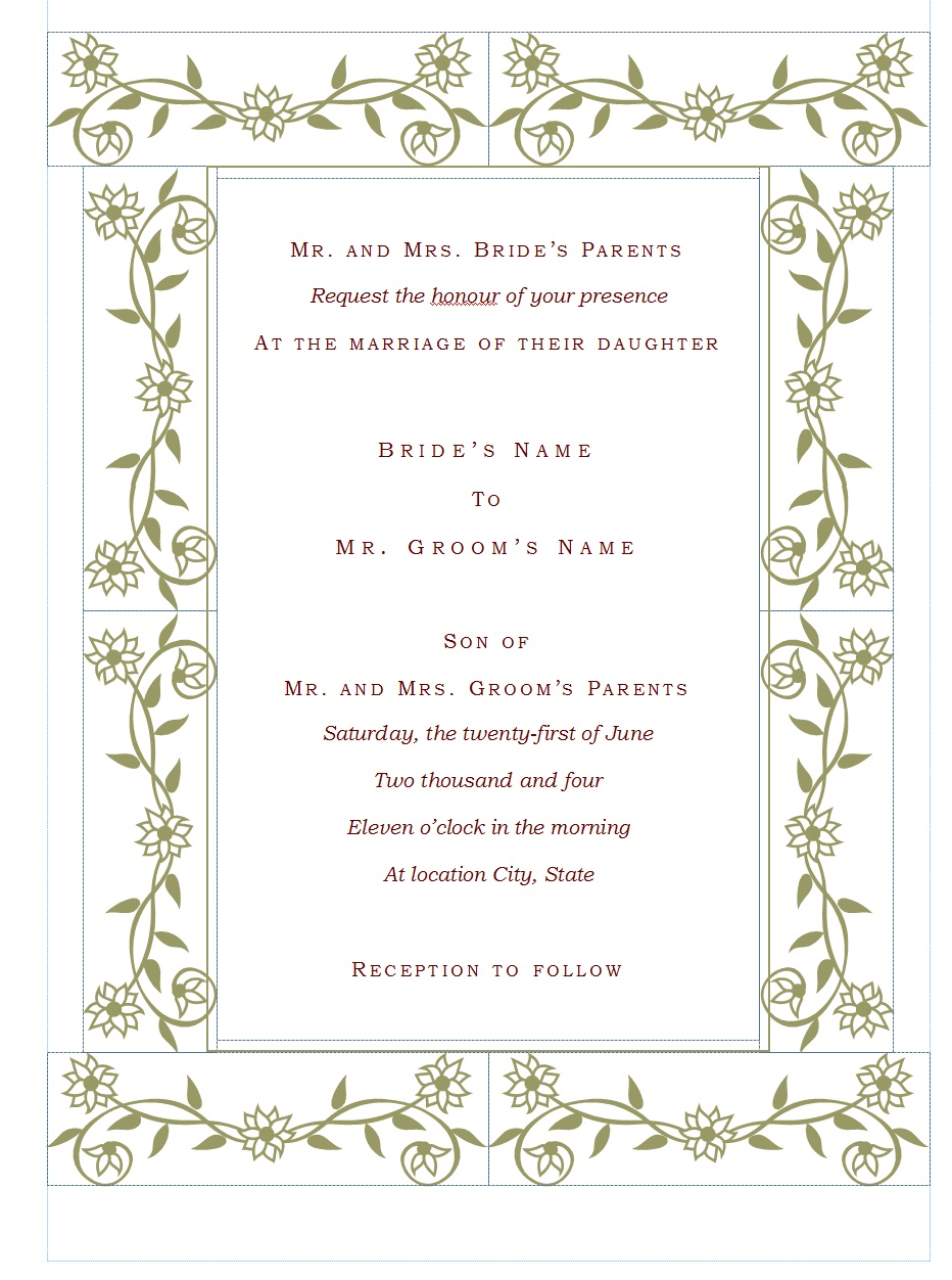 wedding wedding invitation templates