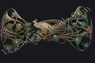 This peacock corsage ornament of gold, opal, enamel and diamonds (c. 1898-99) is a quintessential Art Nouveau jewel.