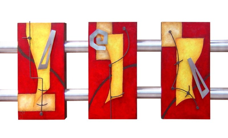 Cuadros pinturas oleos pintura cuadros tripticos modernos for Imagenes cuadros abstractos tripticos modernos