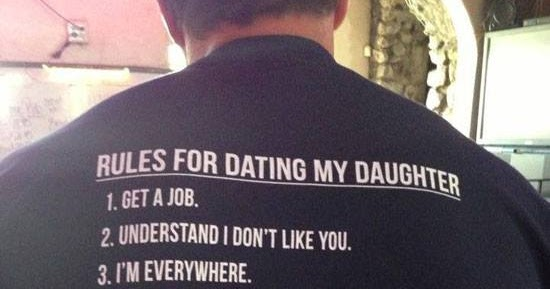 No dating my daughter