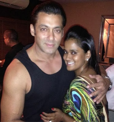 Salman Khan with Arpita Khan