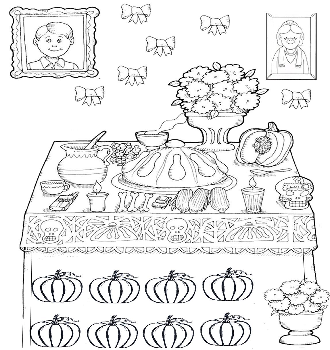Pasitos al aprendizaje ofrenda d a de muertos for Papel para dibujar