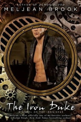 Book cover of The Iron Duke by Meljean Brook (steampunk romance audiobook The Iron Seas #1)