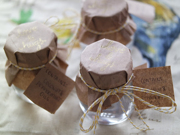 DIY Candy Cane Beauty Balm (Coconut + Peppermint)