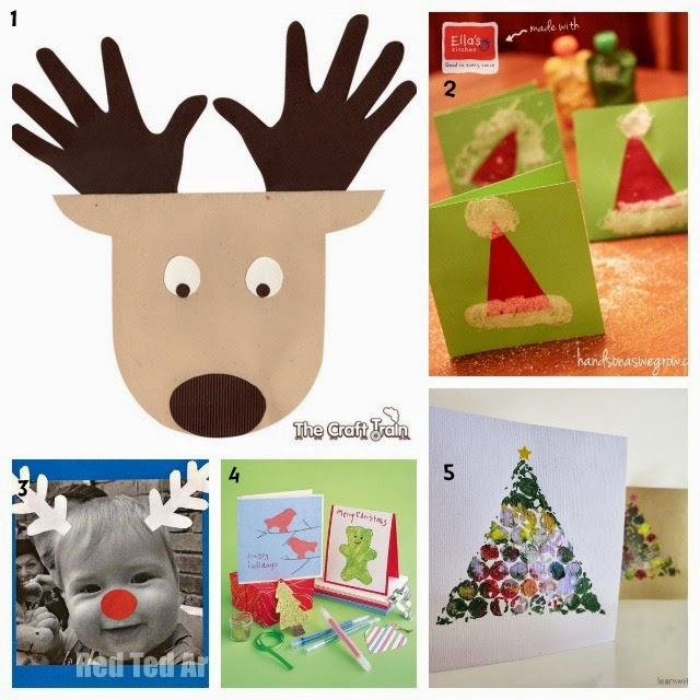 Ideas For Christmas Cards For Children To Make Part - 47: Iu0027ve Been On The Lookout For Kid-made Christmas Cards This Year And Have  Made A Collection Of 25 Christmas Cards That Kids Can Make. Enjoy :)