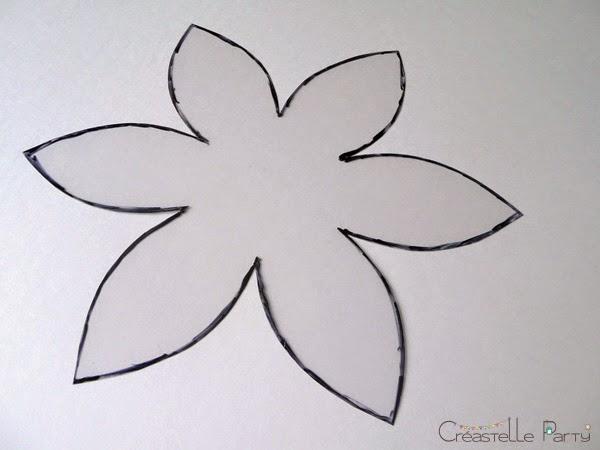 modèle pour fleur en mousse