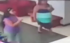 Woman 'pushed over by a GHOST': CCTV footage captures freaky moment
