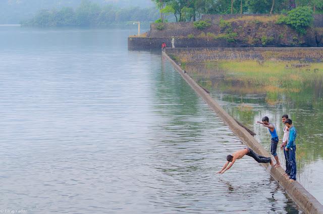 Bhandardara in monsoon, arthur lake, wilson dam