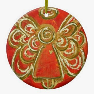 Red Angel Color Series Ornament