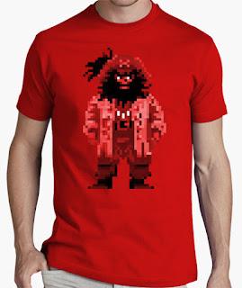 Camisetas Monkey Island Lechuck pixelado