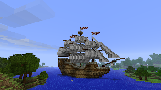 Bateau Minecraft