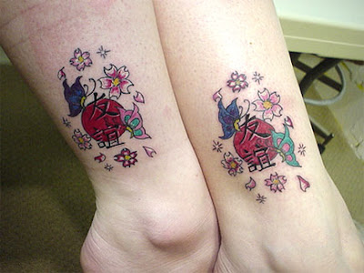 friendship tattoo on foot