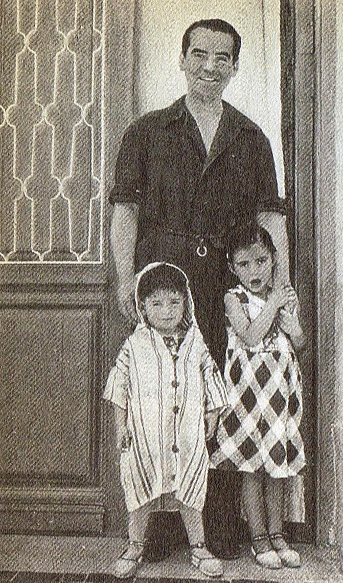 Lorca con dos sobrinos